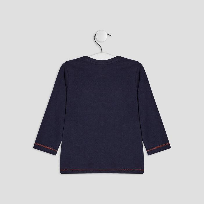 T-shirt manches longues Creeks bébé garçon bleu marine