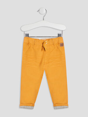 Pantalon droit Creeks jaune moutarde bebeg