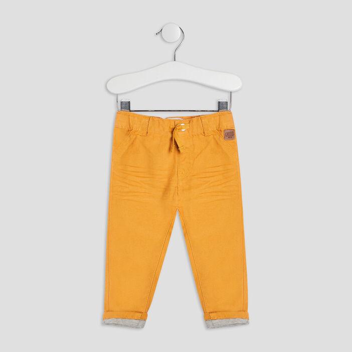 Pantalon droit Creeks bébé garçon jaune moutarde