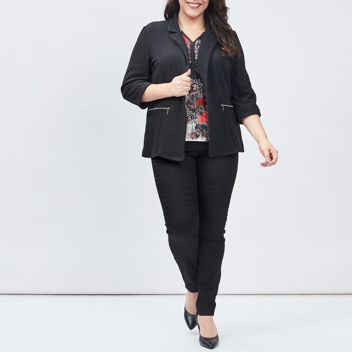Blouson, veste femme grande taille noir