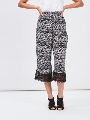 Pantalon ample fluide noir femme