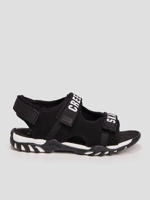 Sandales crantees Creeks noir garcon
