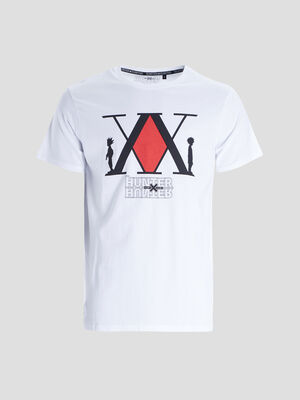 T shirt Hunter X Hunter blanc homme