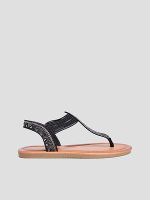 Sandales plates Liberto noir femme