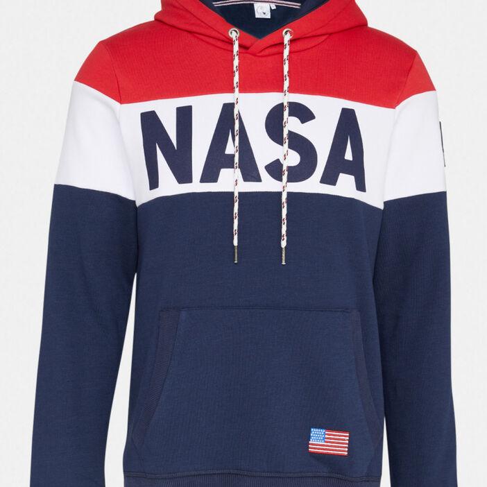 Sweatshirt Nasa poche kangourou homme multicolore