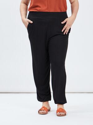 Pantalon sarouel droit noir femmegt