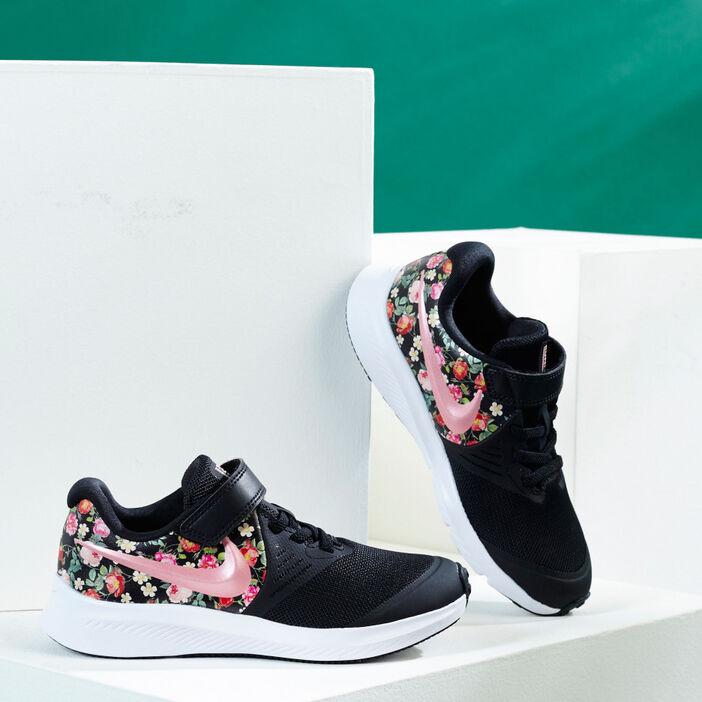 Tennis imprimées Nike STAR RUNNER fille noir