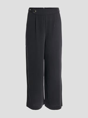 Pantalon flare noir femme