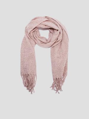 charpe avec franges rose clair femme
