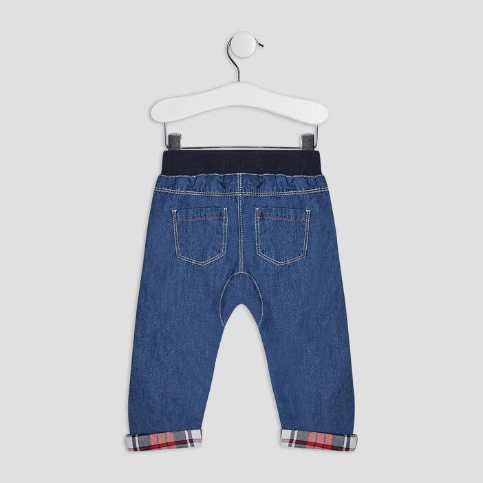Jeans droit élastiqué bébé garçon denim double stone