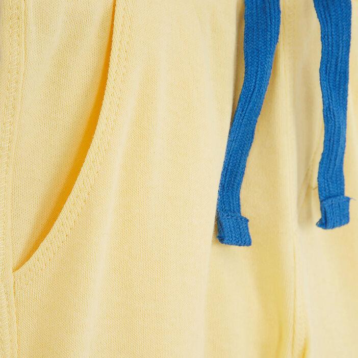 Bermuda chiné taille élastiquée coton garçon jaune