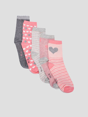 Chaussettes rose fille