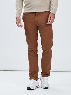 Pantalon regular camel homme