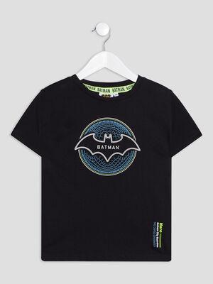 T shirt manches courtes Batman noir garcon