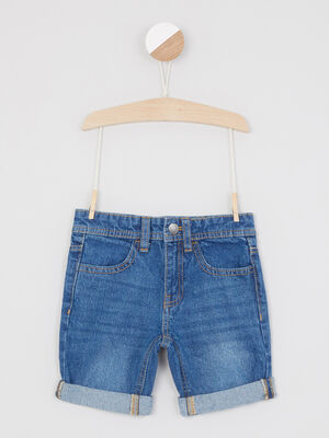 Short Bermuda denim stone garcon