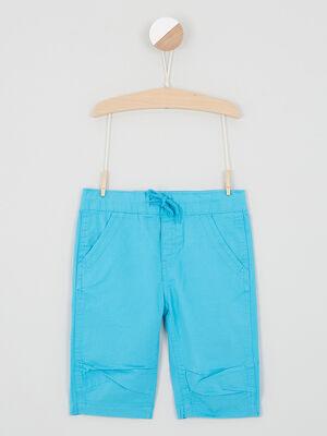 Short Bermuda bleu turquoise garcon
