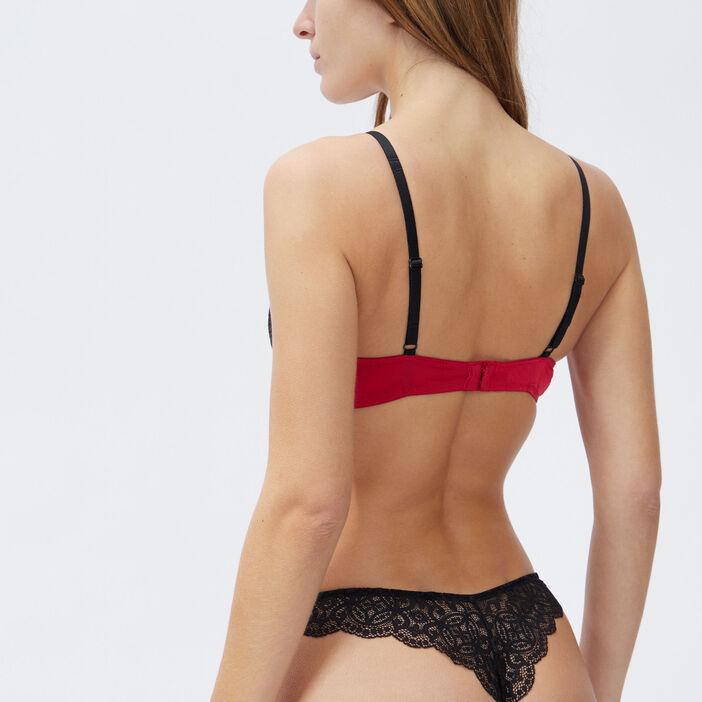 Soutien-gorge push-up femme rouge