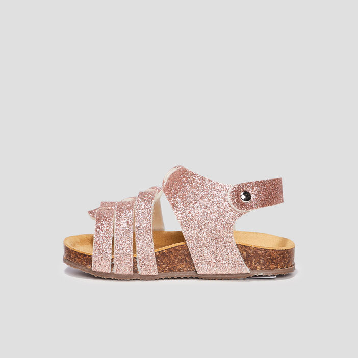 Sandales à paillettes mixte rose