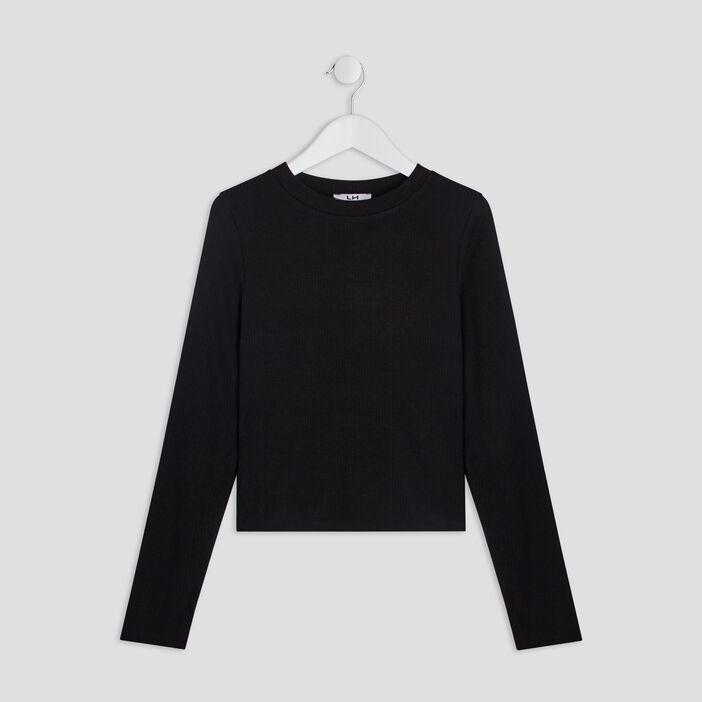 T-shirt manches longues fille noir