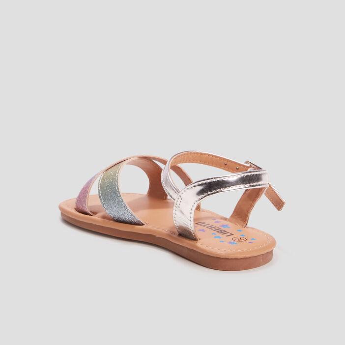Sandales à paillettes Liberto fille multicolore