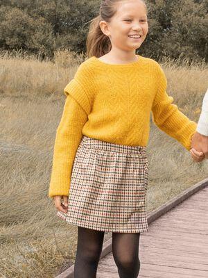 Jupe short droit multicolore fille