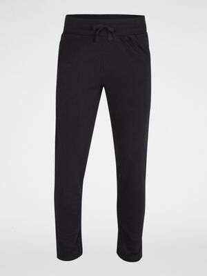 Pantalon de pyjama en coton noir homme