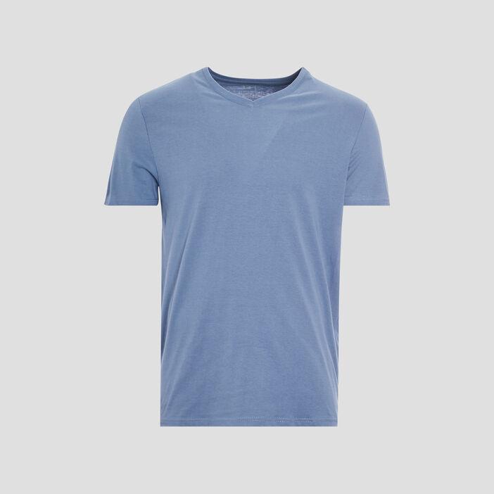 T-shirt manches courtes homme bleu gris