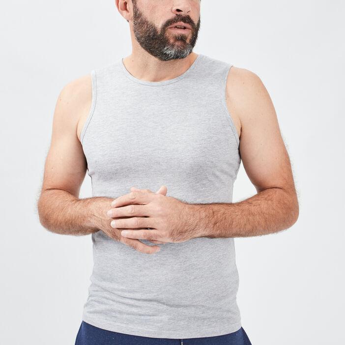 Débardeur bretelles larges homme gris