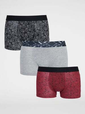 Lot de 3 boxers rouge homme