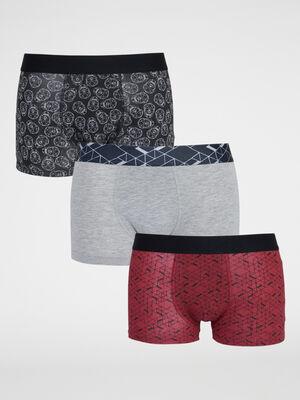 Lot de 3 boxers rouge homme