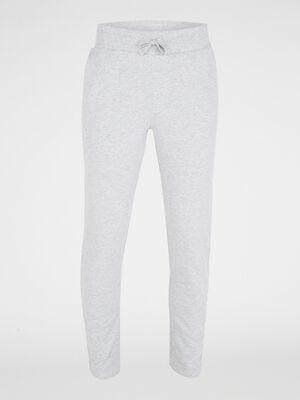 Pantalon de pyjama en coton gris homme