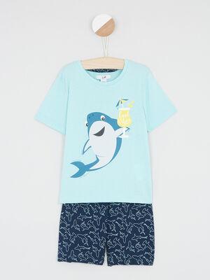 Pyjama bleu turquoise garcon