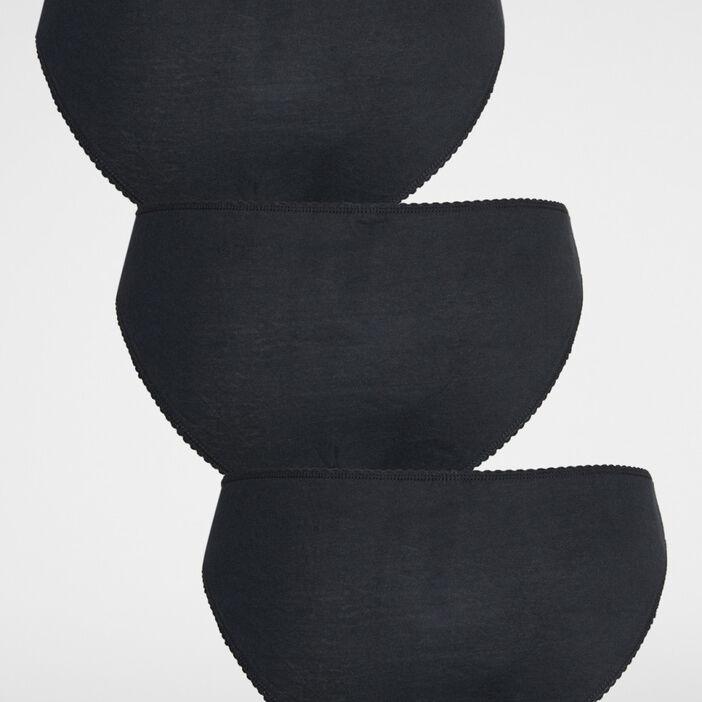 Lot 3 culottes coton uni femme noir