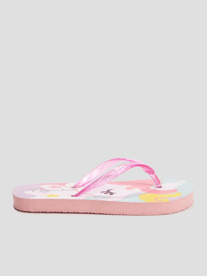 Tongs Wamea Beach rose fille