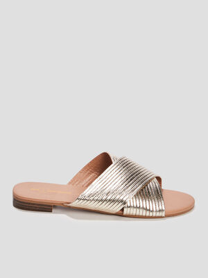 Mules Mosquitos couleur or femme