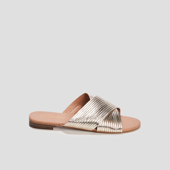 Mules Mosquitos femme couleur or