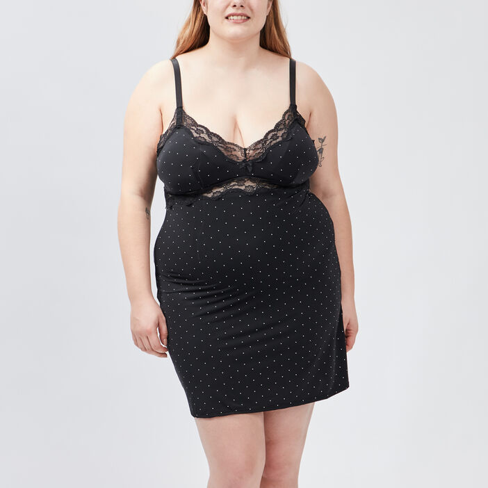Nuisette grande taille femme grande taille noir