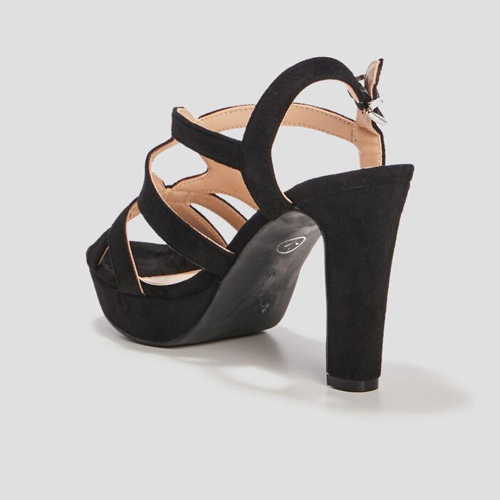 Sandales à talons femme noir