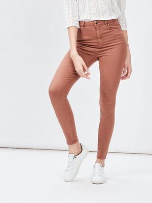 Pantalon skinny camel femme