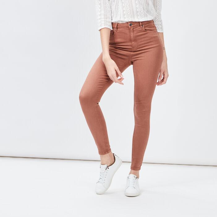 Pantalon skinny femme camel