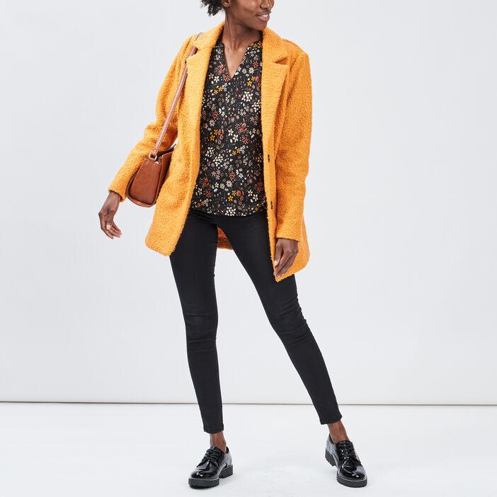 Jeans skinny taille basse femme noir