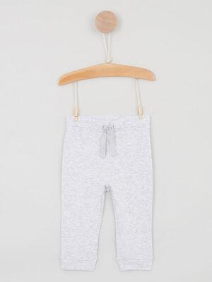 Pantalon avec lien a nouer gris garcon