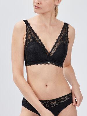 Soutien gorge triangle foulard noir femme