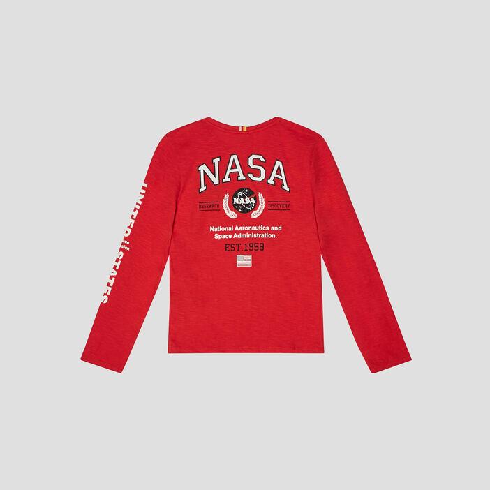 T-shirt manches longues NASA garçon rouge