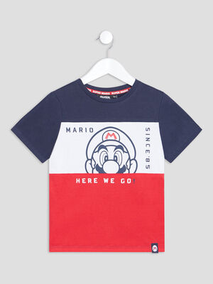 T shirt manches courtes Mario multicolore garcon
