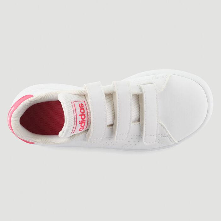 Tennis Adidas ADVANTAGE E garçon blanc