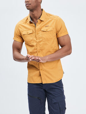 Chemise Trappeur jaune moutarde homme