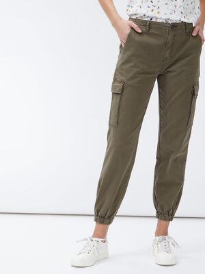 Pantalon battle 78eme vert kaki femme