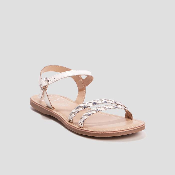 Sandales à détails tressés fille blanc