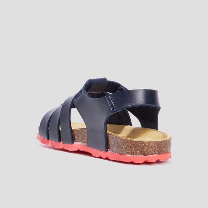 Sandales crantées garçon bleu